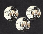 Halloween, Stickers, Marie Antoinette, Witch, Raven, Halloween Stickers, Stickers
