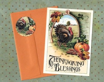 Thanksgiving, Greeting Cards, Turkey, Holiday, Thanksgiving Blessing