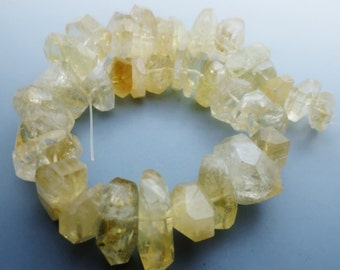 Chunky Citrine Gemstone Nugget Faceted Beads