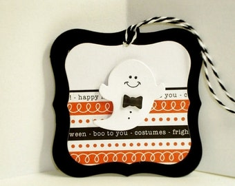 Boo To You Halloween Tags, Halloween Treat  Tags, Tags for Halloween Treat Bags