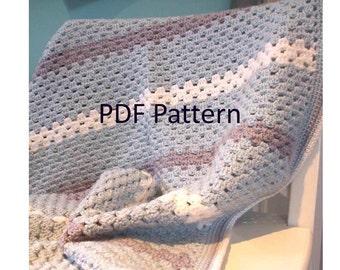 PDF Crochet Pattern - Sweet Dreams Baby Blanket