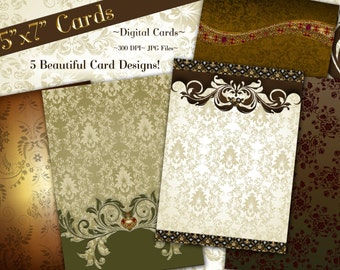 Clip Art Cards, Digital Papers, Clipart, Digital Backgrounds, Card Backgrounds