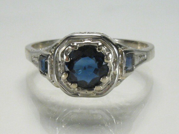 antique sapphire engagement ring appraisal included
