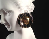 Vintage, Gold Zebra Stud Earrings : E129