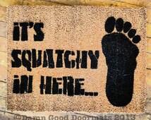 BIGFOOT Sasquatch Yeti doormat outdoor