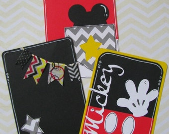 Mickey Mouse Disney Vacation Project Life Cards - Set of 3 3 x 4