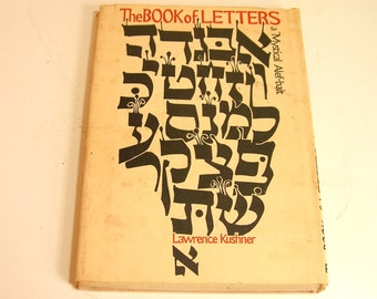 The Book Of Letters By Lawrence Kushner 1975 First Edition Book