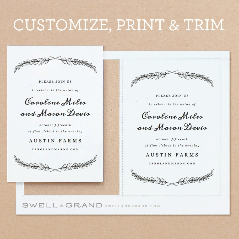 Editable tombstone unveiling invitation cards calendar june printable wedding invitation template instant download quill stopboris Images