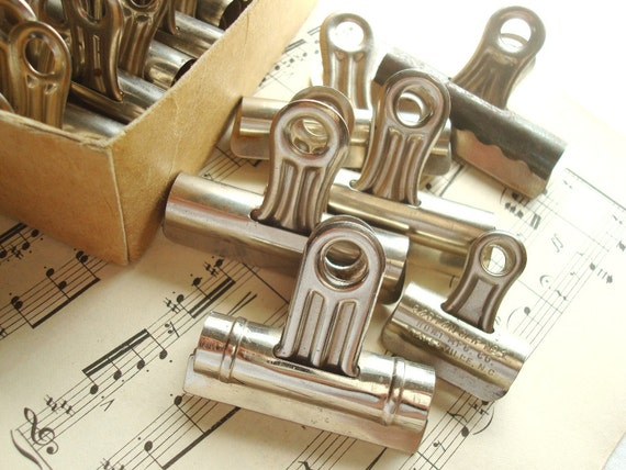 vintage bulldog clips vintage bulldog clips box of 13 vintage office by 7294