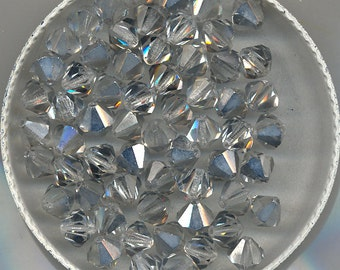 Vintage Czech Silver Coated Fire Polished Beads-3 Sizes, B3067.B3068.B3069*