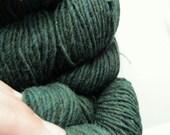 Dark Green worsted weight knitting wool yarn - Green Mountain Spinnery - Mountain Mohair - Balsam - Thyme -140 yards - yarn shop