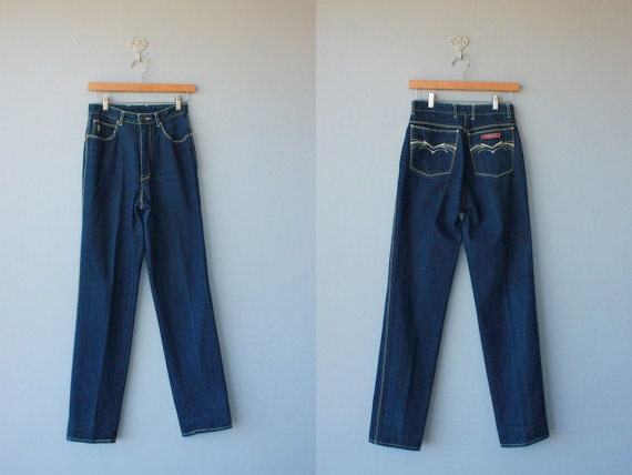 SALE / 80s jeans / 70s jeans / high waist jeans / high waisted jeans / 1980s Sasson jeans -size small , medium