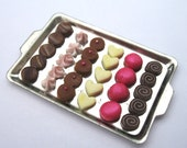 Dollhouse Miniature Food Pink Chocolate Collection in 12th Scale