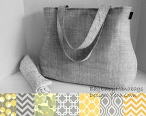The Laguna Diaper Bag Set - Custom Design Your Own - Yellow and Grey Collection
