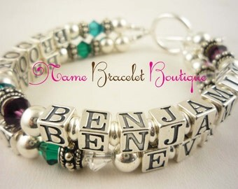 Custom Design your own Mother's Bracelet - choose the name(s) or personalization and colors to create your own jewelry