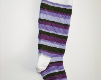 S6 Striped Christmas Stocking - Purples