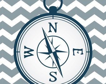 Nautical Print - Compass