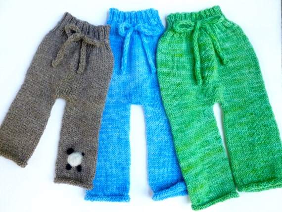 PATTERN for easy knit baby pants by farmfreshfiber on Etsy