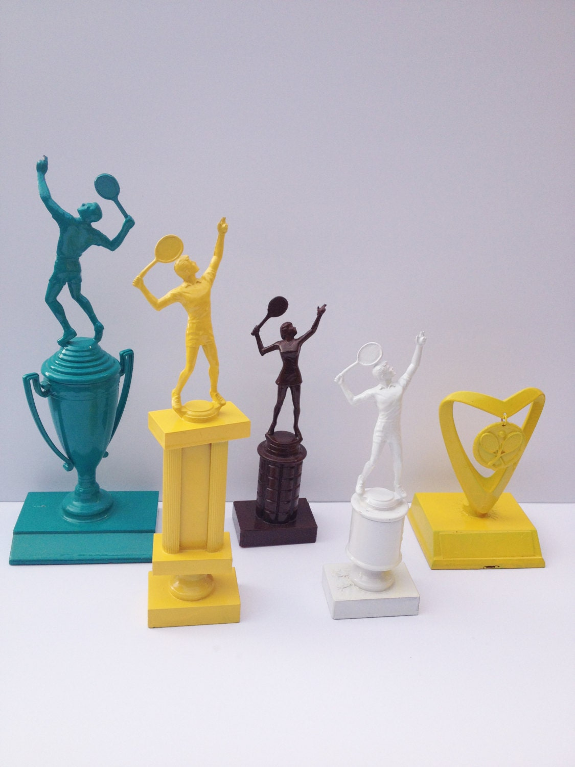 Funky Home Decor Spray Painted Tennis on oscar trophies to order