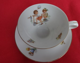 Child's Vintage Haviland China Cup and Saucer