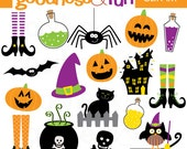 Buy 2, Get 1 FREE - Spooktacular Halloween Clipart - Digital Halloween Clipart - Instant Download
