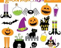 Buy 2, Get 1 FREE - Spooktacular Halloween Clipart - Digital Halloween Clipart - Instant Download
