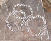 Charm Bracelet Blanks -- Silver Plated -- (6 bracelets) -- 7 3/4 inches long