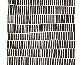 LINOCUT PRINT - geometric pattern - black block print 8x10 mid century modern poster