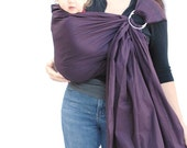 SPECIAL - Ring Sling Baby Carrier Deep Plum Purple Superwide Baby Basics - Ready to Ship in a Short Length