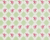 Green Cameo Rose Fabric Collection  by Tanya Whelan  PWTW066-Green