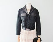 Vintage PRADA Leather/Nylon Biker Jacket