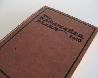John Wanamaker Journal Diary Red Book Antique Philadelphia Advertising Vintage