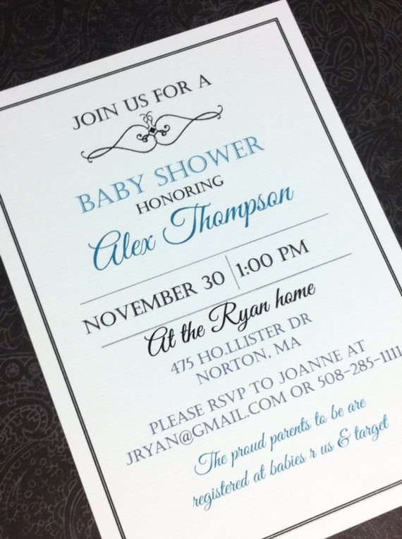 handmade baby shower invitations bridal shower