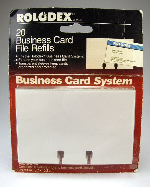 Rolodex Business Card Files Refill Cards Set of 20 Business