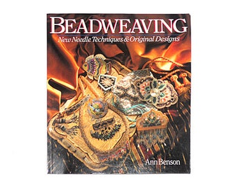 Beadweaving, Ann Benson, Bead Books, Bead Weaving Book, Beaded Jewelry, 1st Edition, Learn to Bead by NewYorkTreasures on Etsy