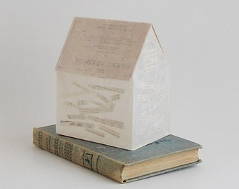House with Words / The Silent Readers / vintage altered book