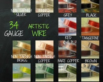 34 gauge  Artistic  Wire -- SO Many Colors - 100 Percent Guarantee