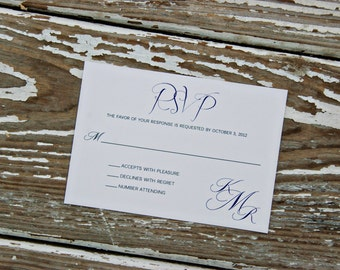 Wedding Invitation Reply Card - Kelly