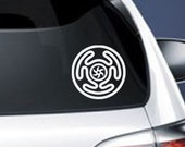 Hekate's Wheel Vinyl CAR DECAL Pagan Wiccan New Age Sticker
