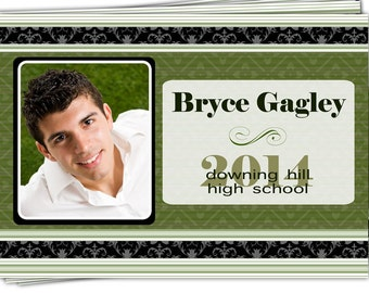Digital File Print it Yourself/Photo Graduation Invitation Announcement/you can change the colors/Bryce design