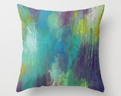 Visions of Spring Abstract Pillow Cover 16x16, 18x18 or 20x20