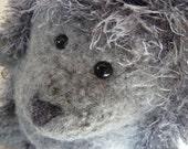 """Plush Wool Felted Hedgehog """"Grayson Stonewall"""""""