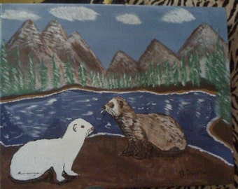 Ferrets by the Lake - PRINT