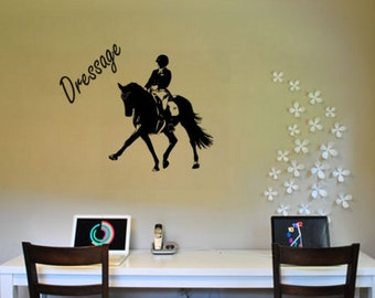 Horse sticker, Horse quote decal, Dressage horse decal, Vinyl wall decal, 30 X 31 inches