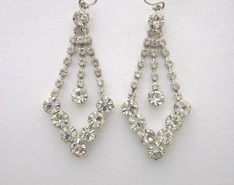 Rhinestone Dangle Earrings Wedding Crystal Jewelry