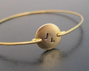 Customized Bracelet for Her, Monogram Bracelet Gold, Initial Jewelry, Monogram Gift for Her, 2 Initial Gold Bracelet, Two Initial Bracelet