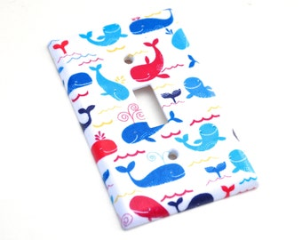 Mini Whales Light Switch Plate Cover