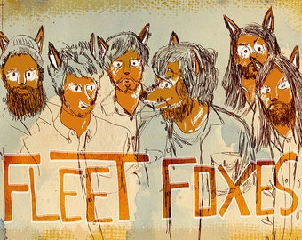 Fleet Foxes Poster - Limited Edition of 100