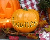 Medium Personalized Pumpkin
