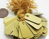 Price Tags - 100 Gold Jewelry Labels PVC 1x1/2 Inch